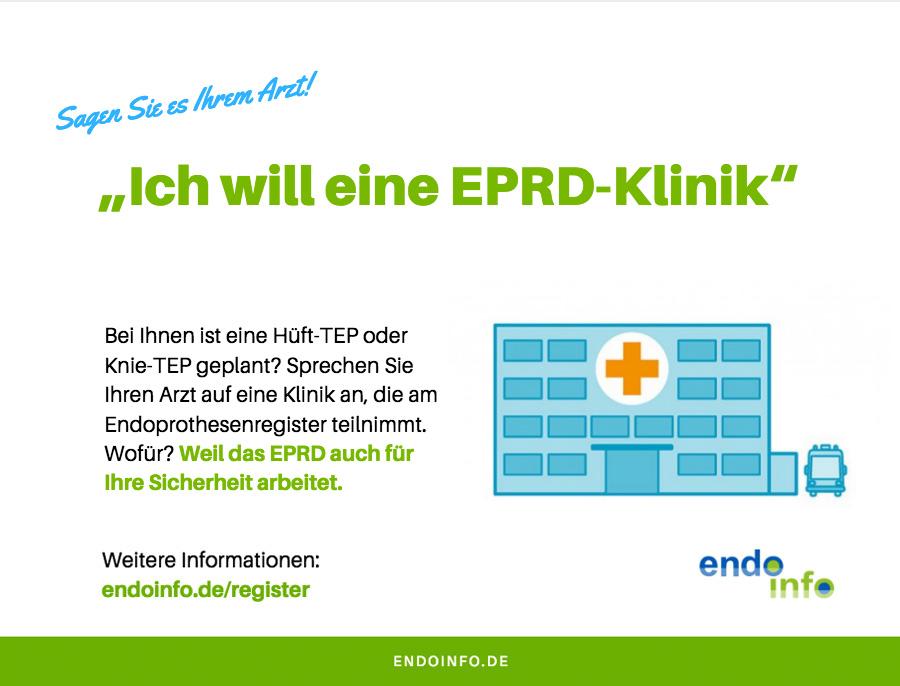 Ich will in eine EPRD-Klinik